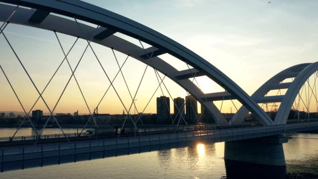 bridge view - bridge built structure stock videos & royalty-free footage