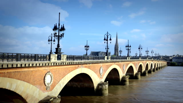 pont avec arches, bordeaux, france - aquitaine stock videos and b-roll footage