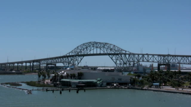 bridge zooming in - corpus christi texas stock videos & royalty-free footage