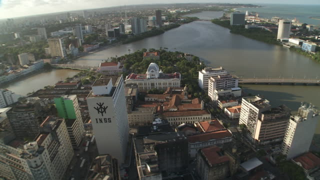 bridges connect urban areas in recife, brazil. - recife stock videos and b-roll footage