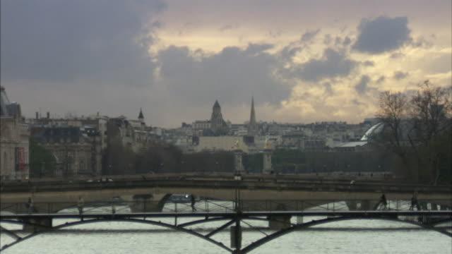 WS Bridges crossing river Seine, Paris, France