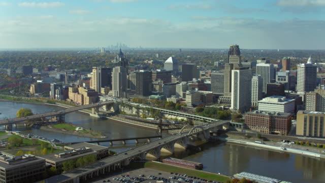 Bridges In Downtown Saint Paul Minnesota