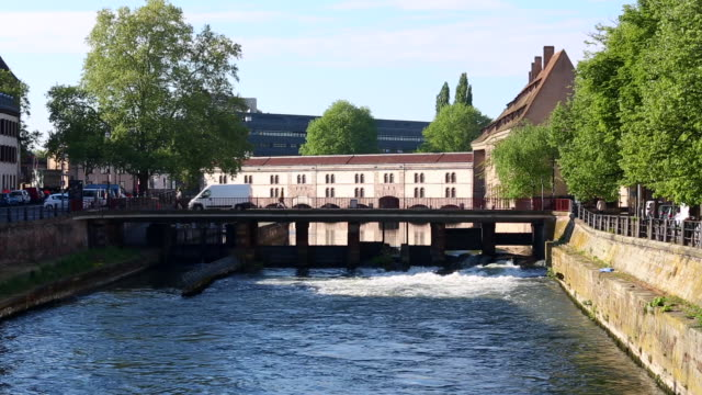 bridges in strasbourg, realtime - strasbourg stock videos & royalty-free footage