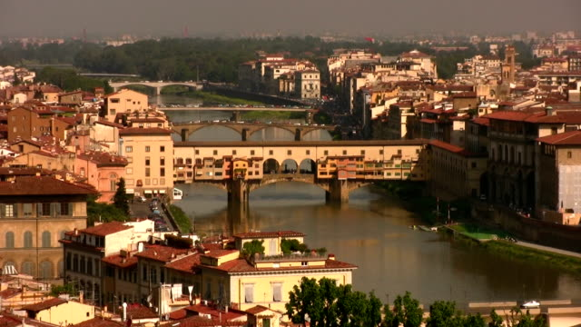 bridges of florence - ponte stock videos & royalty-free footage