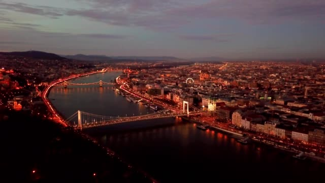 bridges over the danube - liberty bridge budapest stock videos & royalty-free footage