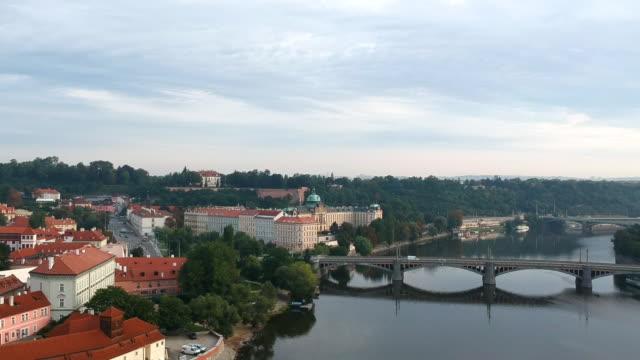 bridges over vltava river in prague - river vltava stock videos and b-roll footage