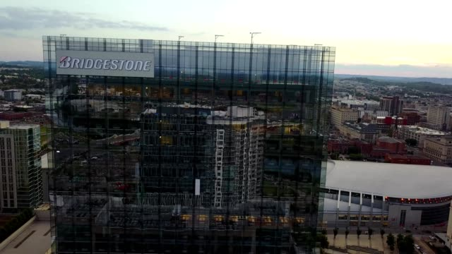 bridgestone building reflections - nashville stock videos and b-roll footage