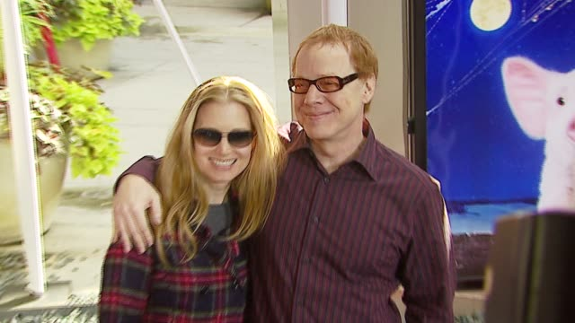 bridget fonda and danny elfman at the 'charlotte's web' los angeles premiere at arclight cinemas in hollywood, california on december 10, 2006. - arclight cinemas hollywood stock videos & royalty-free footage