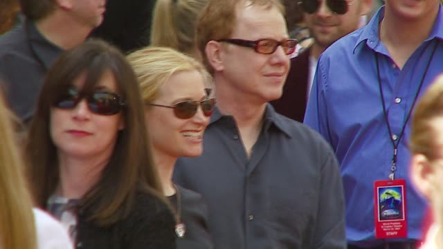 bridget fonda and danny elfman at the 'meet the robinsons' premiere at the el capitan theatre in hollywood, california on march 25, 2007. - el capitan theatre stock videos & royalty-free footage