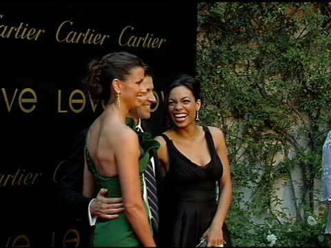 bridget moynahan frederic de nerp and rosario dawson at the cartier hosts the third annual loveday celebration at los angeles california - rosario dawson stock videos and b-roll footage