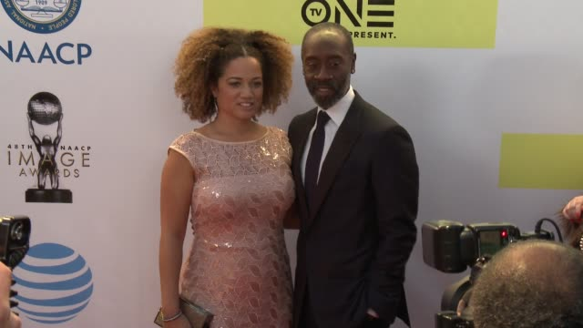 Bridgid Coulter and Don Cheadle at 48th NAACP Image Awards at Pasadena Civic Auditorium on February 11 2017 in Pasadena California
