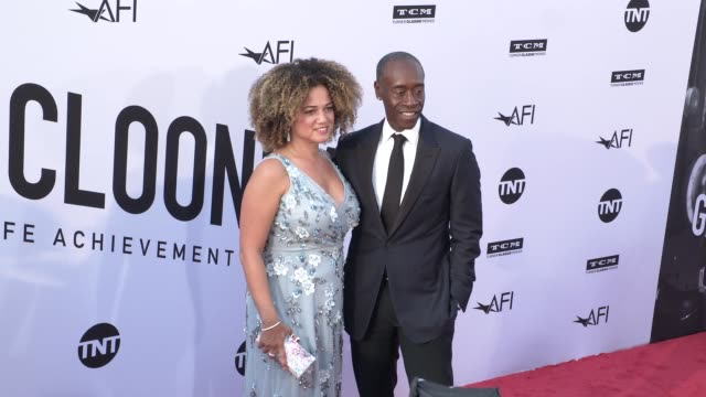 Bridgid Coulter and Don Cheadle at the American Film Institute Honors George Clooney With 46th AFI Life Achievement Award at Dolby Theatre on June 07...