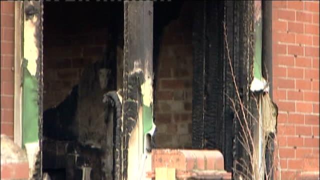 bridlington house fire kills three children england yorkshire bridlington ext burnt out windows of house charred front of house - bridlington stock-videos und b-roll-filmmaterial