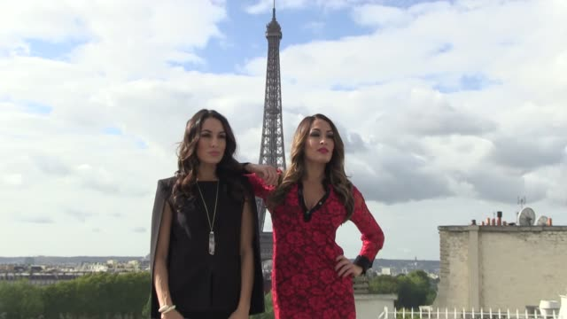 Brie Bella and Nikki Bella from Bella Twins Photocall in Paris Brianna Monique Danielson and Nicole Garcia Colace launch the new season of The Total...