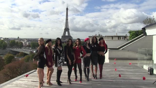 Brie Bella Nikki Bella Natalya Eva Marie Rosa Mendes Alicia Fox Paige and Mandy at the Photocall of The Total Divas in Paris Brianna Monique...