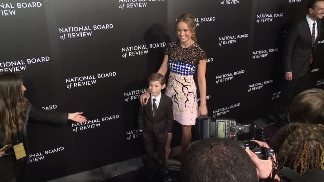 Brie Larson and Jacob Tremblay at The National Board of Review Gala honoring the 2015 Award Winners at Cipriani 42nd Street on January 05 2016 in New...