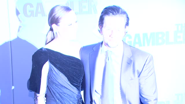 brie larson and mark wahlberg at the gambler new york premiere at amc lincoln square theater on december 10 2014 in new york city - brie stock videos & royalty-free footage