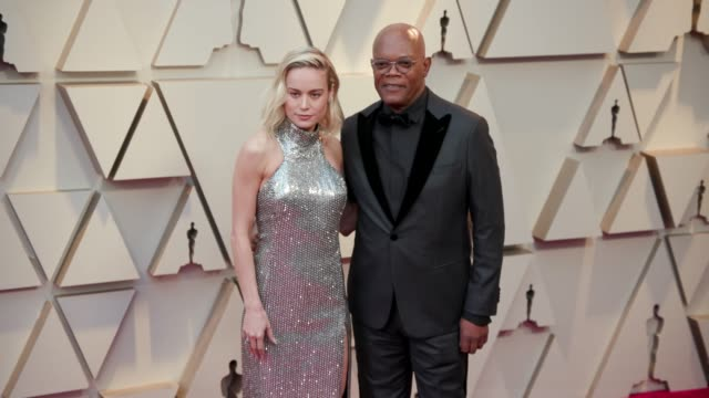 Brie Larson and Samuel L Jackson at the 91st Academy Awards Arrivals at Dolby Theatre on February 24 2019 in Hollywood California