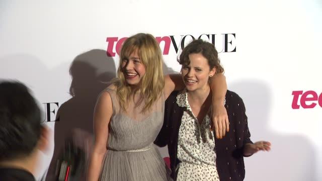 Brie Larson and Sarah Ramos
