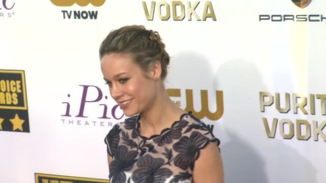 Brie Larson at 19th Annual Critics' Choice Movie Awards Arrivals at The Barker Hanger on in Santa Monica California