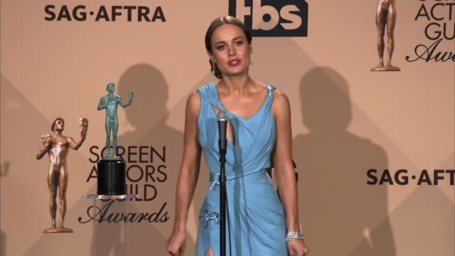 INTERVIEW Brie Larson at 22nd Annual Screen Actors Guild Awards Press Room in Los Angeles CA