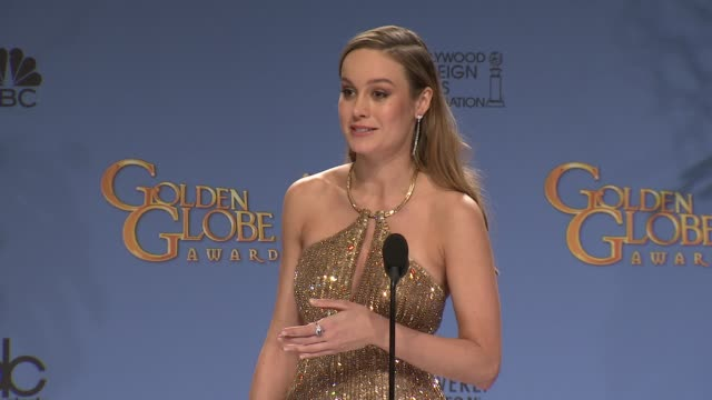 SPEECH Brie Larson at 73rd Annual Golden Globe Awards Press Room at The Beverly Hilton Hotel on January 10 2016 in Beverly Hills California