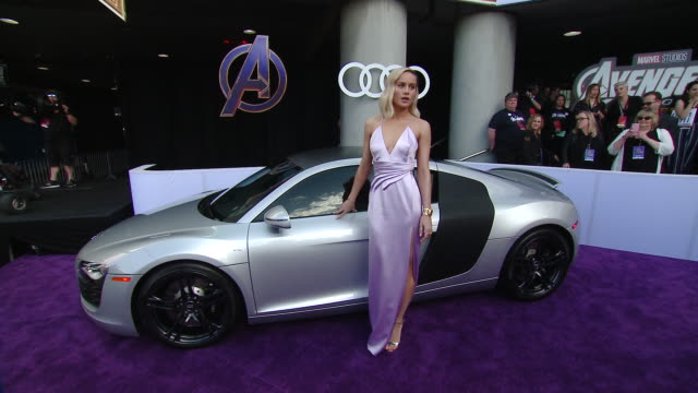 """Brie Larson at Audi at the World Premiere of """"Avengers Endgame"""" in Los Angeles CA"""