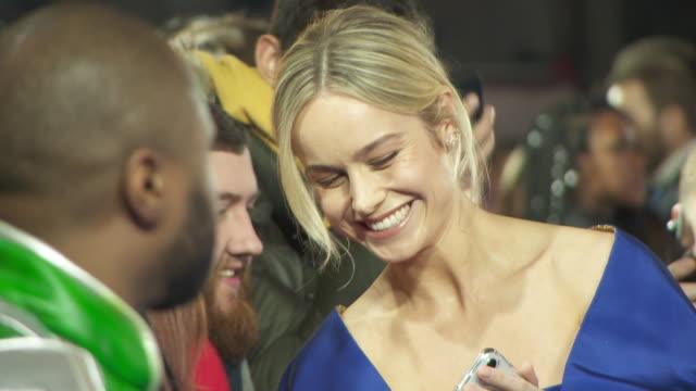 Brie Larson at Captain Marvel European Gala on February 27 2019 in London United Kingdom