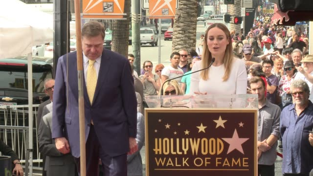 SPEECH Brie Larson at John Goodman Honored With Star On The Hollywood Walk Of Fame at Hollywood Walk Of Fame on March 10 2017 in Hollywood California