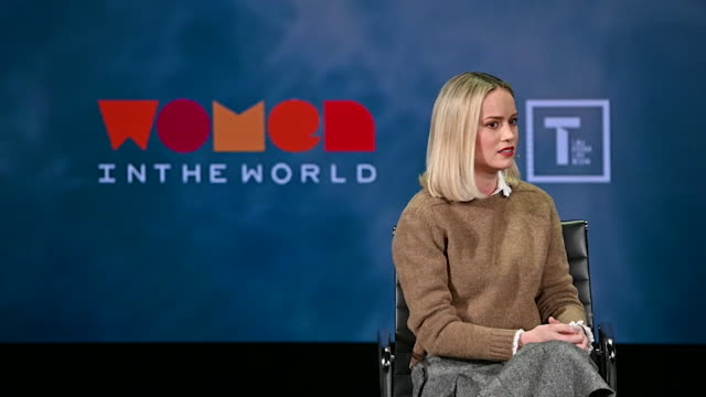 Brie Larson at the 10th Anniversary Women In The World Summit at David H Koch Theater at Lincoln Center on April 10 2019 in New York City Video by