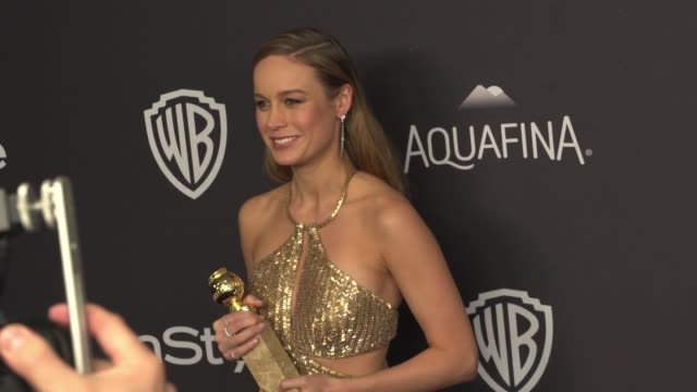 Brie Larson at the 17th Annual InStyle And Warner Bros Pictures Golden Globe AfterParty at The Beverly Hilton Hotel on January 10 2016 in Beverly...