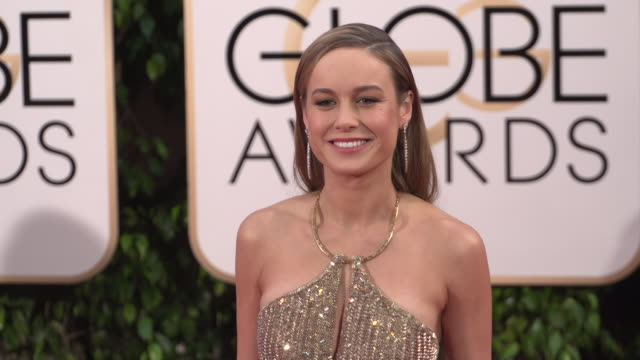 Brie Larson at the 73rd Annual Golden Globe Awards Arrivals at The Beverly Hilton Hotel on January 10 2016 in Beverly Hills California 4K