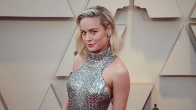 brie larson at the 91st academy awards arrivals at dolby theatre on february 24 2019 in hollywood california - アカデミー賞点の映像素材/bロール
