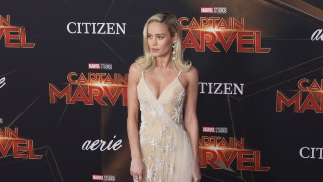 Brie Larson at the Captain Marvel World Premiere at the El Capitan Theatre on March 04 2019 in Hollywood California