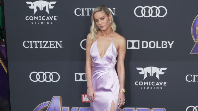 Brie Larson at the World Premiere of Marvel Studios' Avengers Endgame at Los Angeles Convention Center on April 22 2019 in Los Angeles California