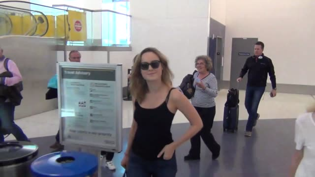 Brie Larson departing at LAX Airport in Celebrity Sightings in Los Angeles