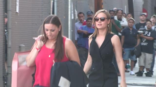 Brie Larson departing the Jimmy Kimmel Studio in Hollywood in Celebrity Sightings in Los Angeles