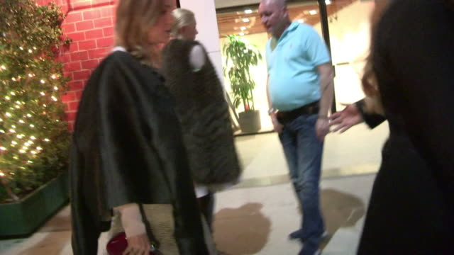 brie larson departs antonio berardi dinner at mr chow in beverly hills celebrity sightings on january 7th 2014 in los angeles california - brie stock videos & royalty-free footage