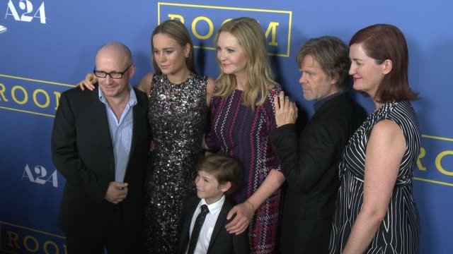 brie larson joan allen william h macy lenny abrahamson emma donoghue and jacob tremblay at the room los angeles premiere at pacific design center on... - lenny abrahamson stock videos and b-roll footage