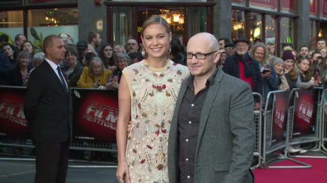 broll brie larson lenny abrahamson on october 11 2015 in london england - lenny abrahamson stock videos and b-roll footage