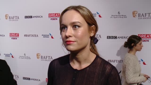 interview brie larson on being at the event and on her film 'room' at the bafta los angeles awards season tea party at four seasons hotel los angeles... - tea party stock videos and b-roll footage