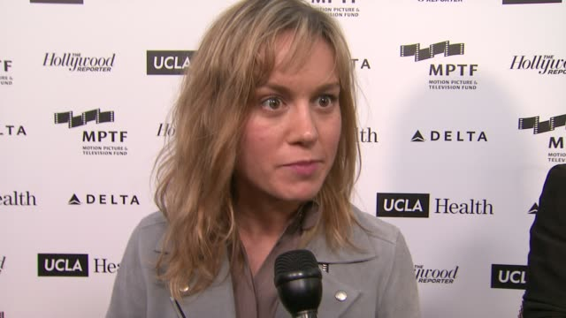 INTERVIEW Brie Larson on on why she is here Why the MPTF is important who she would want telling her story at 3rd Annual Reel Stories Real Lives...