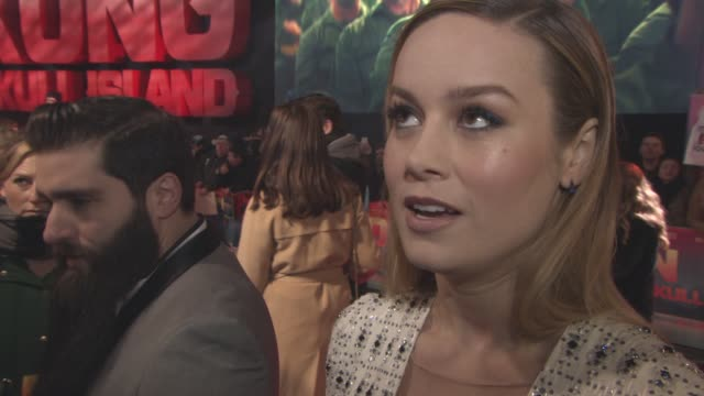 interview brie larson on the type of kong working with a great cast filming in vietnam and travelling to different locations being at the oscar at... - brie larson stock videos and b-roll footage