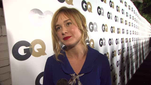 brie larson on what brings her out, who her man of the year would be and what flavor of ice cream she would be. at the gq's 2011 'men of the year'... - interview raw footage stock videos & royalty-free footage