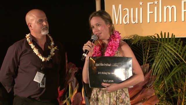 Brie Larson receives the Rising Star Award at the 2013 Maui Film Festival at Wailea Brie Larson receives the Rising Star Award at the on June 12 2013...