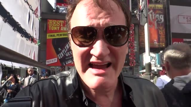 Brief interview with Quentin Tarantino at Times Square for the #RiseUpOctober protest to end police killing of unarmed people