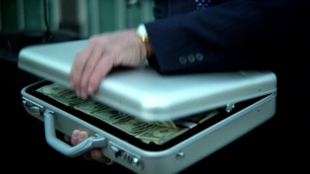 briefcase full of money - briefcase stock videos & royalty-free footage