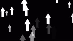 bright abstract arrows going upwards, positive moving up concept loop black