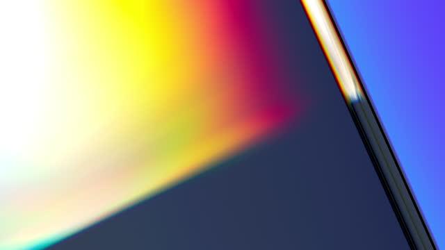 stockvideo's en b-roll-footage met heldere abstracte achtergrond met stralen van licht die van het glas weerkaatsen - loopbaar bewegend beeld