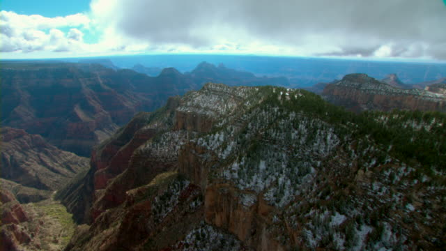 bright angel point overlooks oza butte in the grand canyon. - butte rocky outcrop stock videos and b-roll footage